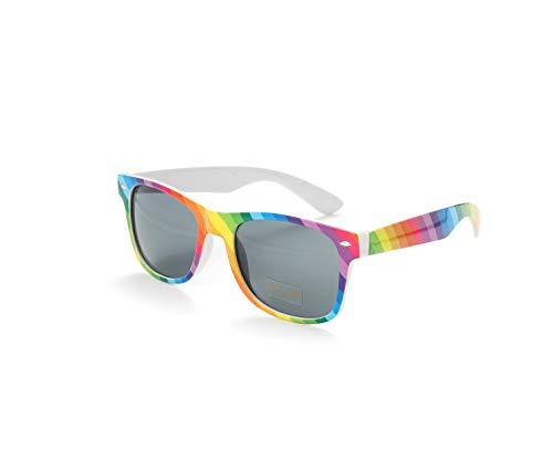 Bunt Stylische Gay Pride Sonnenbrille Regenbogen Farben Rainbow UV400 (WSPSG2)