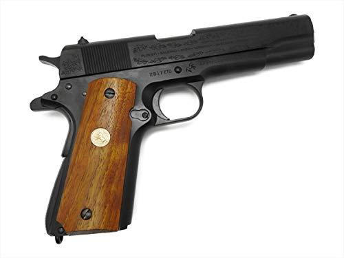 Mule CAW コルト M1911A1 ヨーロッパ戦線記念 モデル ガバメント ブラック ダミーカート式 モデルガン 木製グリップ付 銃