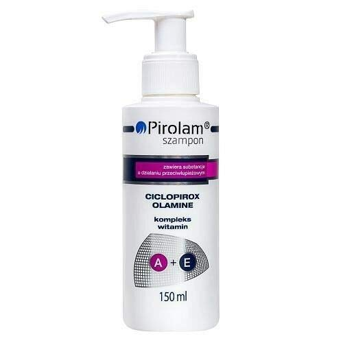 Pirolam Shampoo Anti Schuppen mit Ciclopirox Olamine, Vitamin A + E 150ml