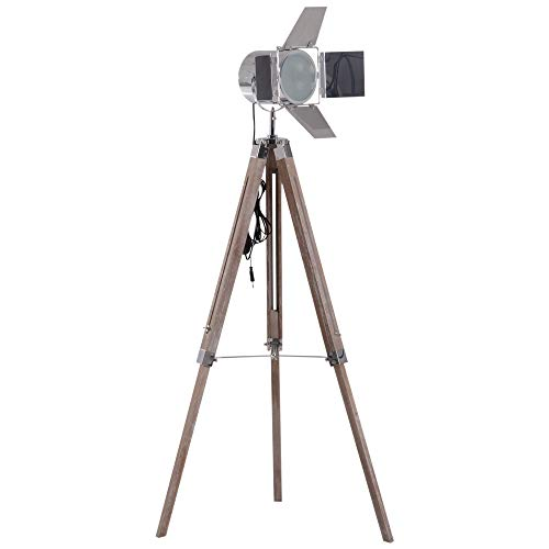 HOMCOM Stehleuchte Stehlampe Leselampe Standleuchte höhenverstellbar DreiBein E14 L65 x B65 cm