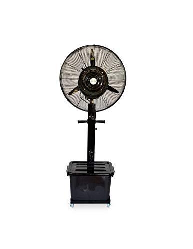 Ventilador Nebulizador Industrial 260W 220V, Ventilador Oscilante De Pie, Tanque De Agua De 41L, 9h De Tiempo De Uso con 1 Tanque Lleno, Velocidad Ajustable Y Ajuste De Volumen De Niebla