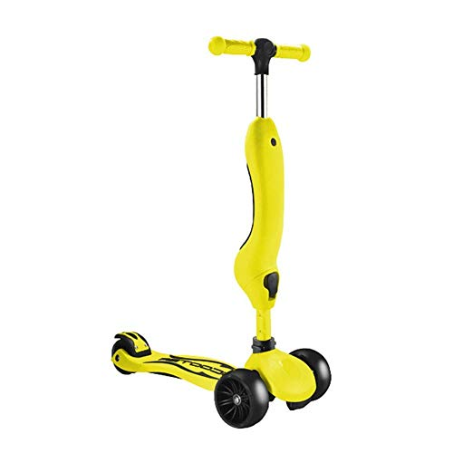 Outdoor Sport Scooter-Tritt, stoßabsorbierende Kick mit Pu Mutet Flashing Rad, einstellbare Kinder for 2-8Yr Alt, Steh- / Sitz-Gliding Surf Auto, 80Kg lädt Erwachsene Kinder Spielzeug Gleichgewicht Au
