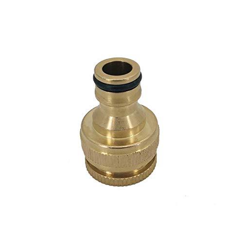 Lcuihong-Brass Latón roscado Conector Manguera de jardín, Equipamiento de riego Sistema de riego Manguera de jardín rápida, Fuerte y Robusto (Color : Standard Connector)