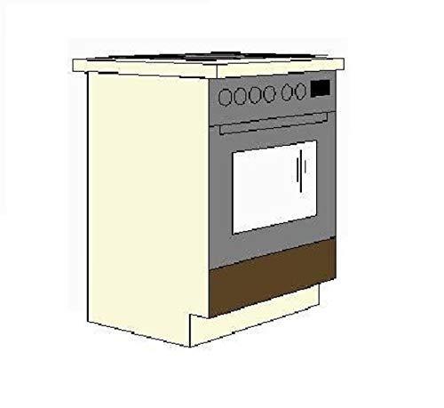 Küchen-Preisbombe Herdunterschrank passend für das Modell,Mary 240 Eichenholzoptik Chamonix hell/dunkel'