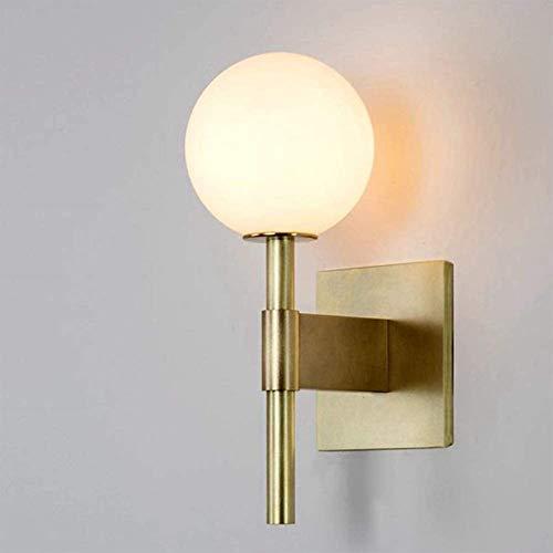 Luces de pared industriales, Sconence de la pared de la bola de cristal, los accesorios de la luz de la pared del globo para el restaurante, sala de estar, espejo de baño faros al lado de la cama (1 l