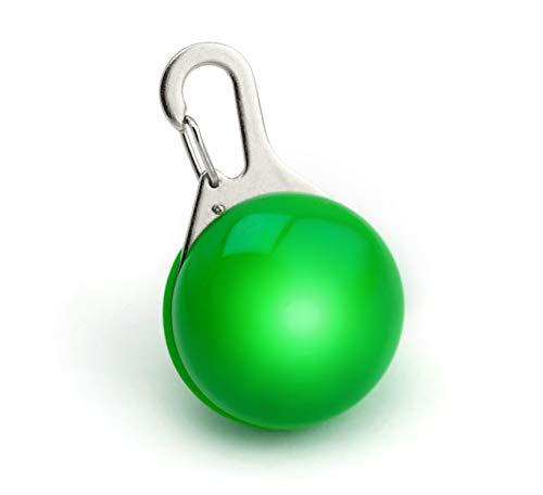 PRECORN Pendiente Luminoso LED en Verde para Perros, gatas, arnés para Perros Collar Luminoso