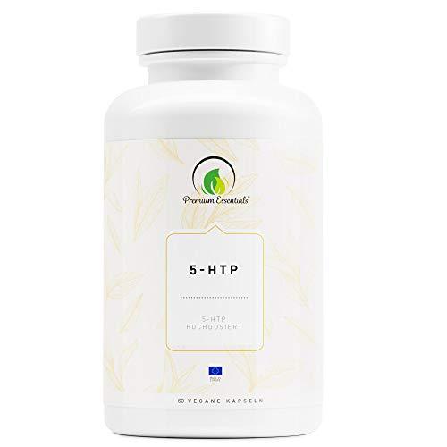 5-HTP 100 | 60 Kapseln | 5-Hydroxytryptophan (Vegan) ULTRA HOCHDOSIERT | Griffonia Samen Extrakt | UNTERSTÜTZUNG FÜR DEN SEROTONIN-SPIEGEL (60)