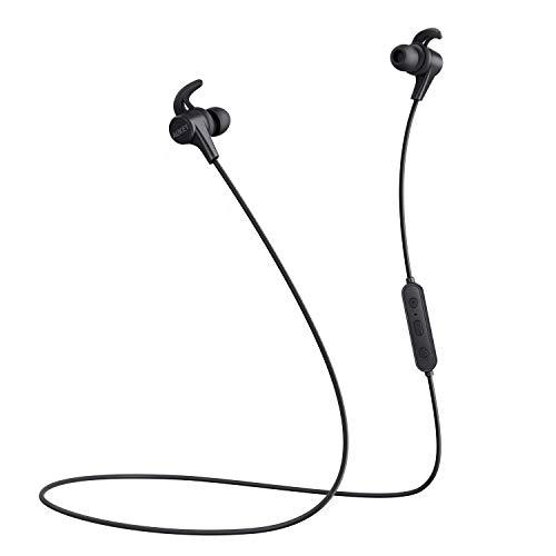AUKEY Bluetooth Kopfhörer in Ear, aptX und 3 EQ Klangmodi, Schweißresistent, Magnetische Ohrhörer mit Aufbewahrungsbeutel für Apple Watch, iPhone, Samsung, Echo Dot und Weitere Geräte