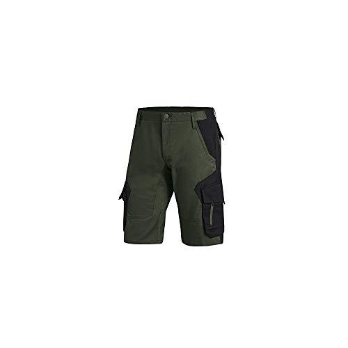 FHB® Herren Arbeits-Hose Shorts kurz Wulf Oliv/Schwarz versch. Größen Baumwolle Polyester viele Taschen, 54