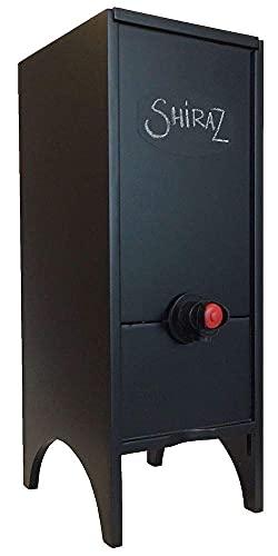 Wine Nook Little Nook Decorative Box Wine Dispenser, 3 Liter, Black, Chalk Included
