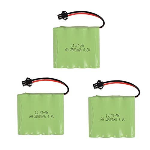 4.8v 2800mah batería Recargable de la batería Juguetes eléctricos RC Coche RC Barco RC Robot Red