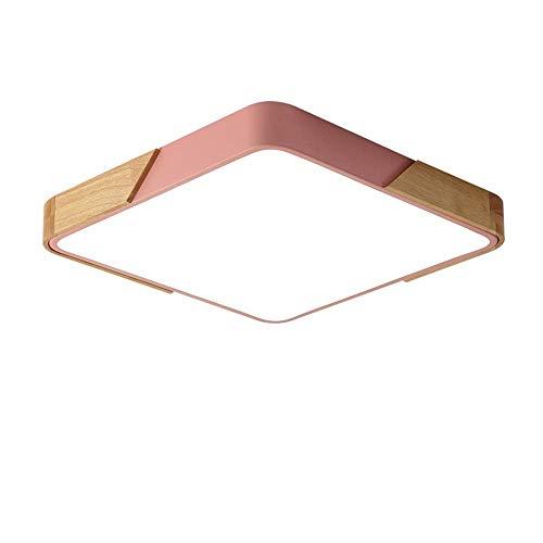 ZHAOJ Moderne led-plaatsen, bijna aan het plafond, plafondverlichting van acryl met 36 W, voor woonkamer, woonkamer niveau L: 50 cm x W: 50 cm