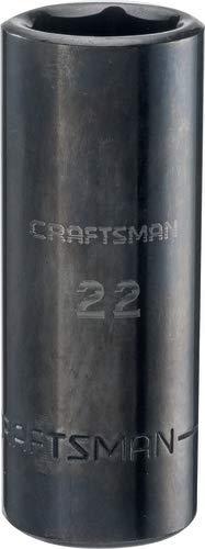 CRAFTSMAN深度撞击插座,公制1/2英寸的驱动器,22毫米(CMMT16085)