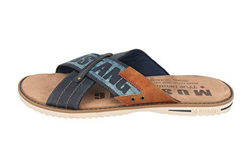MUSTANG 4152-703-820 - Sandalias para hombre, talla grande, color azul