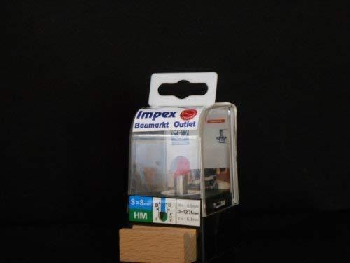 LUX 105833 HM-Hohlkehlfräser Aufnahme Schaft 8 mm PROFI