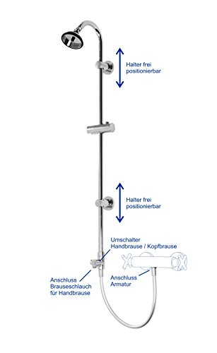 Duschsystem - Brausestange mit BUBBLE-RAIN Kopfbrause