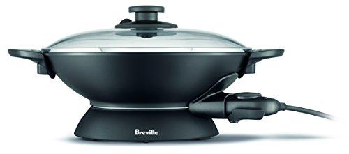 Breville The Quick Wok 5 Litre Compact Size Wok, Black BEW300BLK