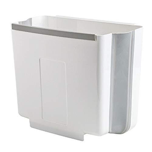 WUCHENG Faltbare Trash Can Wand Befestigtes Papierkorb Trocken Und Nass Trash Sortierung Trash Can mulleimer (Color : White, Size : 32 * 19.5 * 26cm)