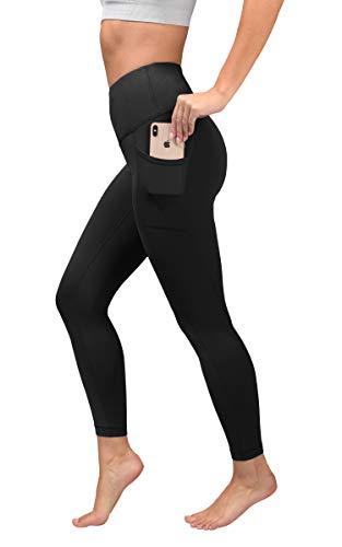 Yogalicious High Waist Ultra Soft Ankle Length Leggings with Pockets - Black - Medium