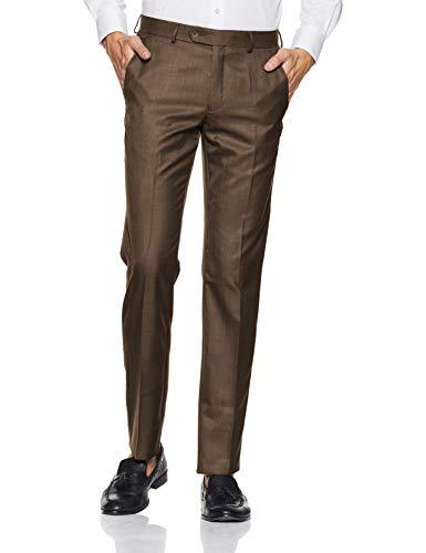 Van Heusen Men's Drop Crotch Formal Trousers (VHTFBSLBR57121_Mid Brown_32)