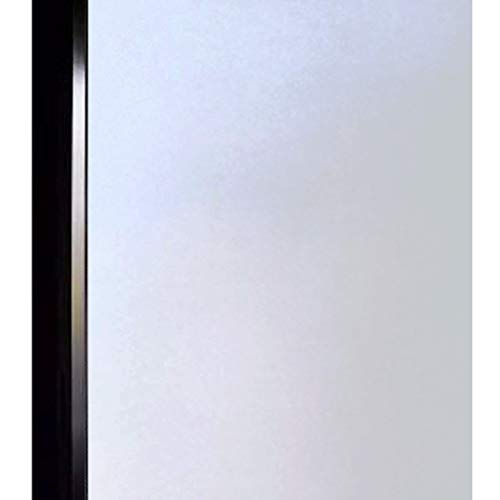 DUOFIRE Privacy Window Film Frosted Glass Film Matte White Static Cling Glass Film No Glue Anti-UV Window Sticker Non Adhesive for Privacy Office Meeting Room Bathroom Living Room 35.4in. x 157.4in.