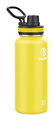 Takeya Originals 32oz Spout Bottle, Lemon Drop