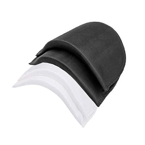SUPVOX 20pcs hombreras de espuma coser ropa almohadillas de gomaespuma para adultos mujeres (blanco y negro)