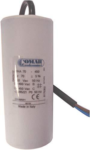 Condensador permanente 70μF cable 250 mm
