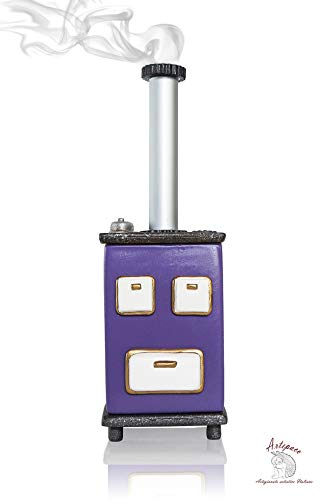 ARTEPACO Incense Burner Putagé Stove Incense Holder for Aromatherapy Room Scented Home Gift Purple