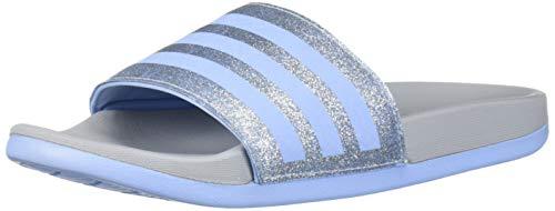 adidas Unisex-Kid's Adilette Comfort K Slide, Glow Blue/Glow Blue/Grey, 13 Medium US Little Kid