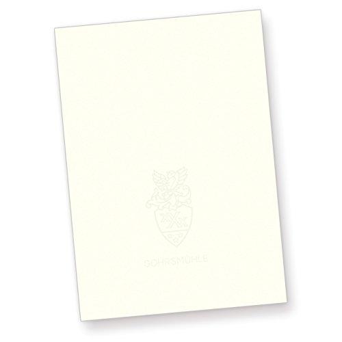 Gohrsmühle Briefpapier (100 Blatt) DIN-A4 210 x 297 mm, 90 g/qm, mit Wasserzeichen - naturweiß