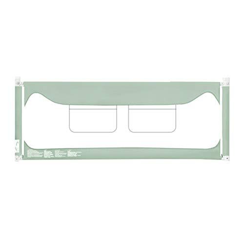 JY Garde-Corps incassable for barrières de bébé, Barre de Protection de Chevet relevable, Baffle for Enfants Safety, Hauteur 90 cm (Color : Green, Size : 150cm)
