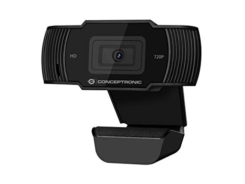 Webcam HD Conceptronic USB 720p, Black
