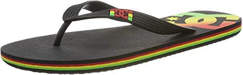 DC Shoes Spray, Sandalias Deportivas para Hombre, Negro (Rasta RST), 44.5 EU