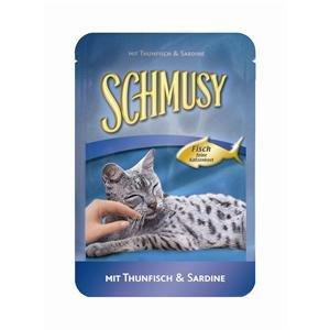 Schmusy | Fisch Sardine Pur im Frischebeutel | 24 x 100 g