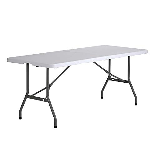 Sandusky Lee FPT7230-WV2 Commercial Fold in Half Utility Table, 6', White, 29' Height, 72' Width, 30' Length