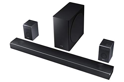 Samsung Harman Kardon 7.1.4 Dolby Atmos Soundbar HW-Q90R with Wireless Subwoofer and Rear Speaker...