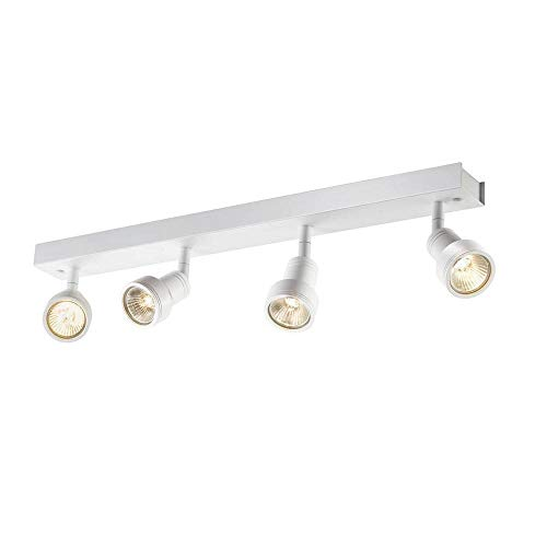 SLV LED Strahler PURIdreh- und schwenkbar | Dimmbare Wand- und Deckenleuchte zur Beleuchtung innen | LED Spot, Deckenfluter, Deckenstrahler, Decken-Lampen, Wand-Lampe | 4-flammig, GU10, EEK bis A++