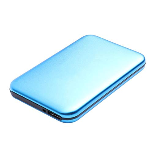 Huante 2.5-inch HDD external hard disk 2TB/160GB/80GB, metal portable USB 3.0 backup storage, suitable for PC, desktop, laptop, MacBook, smart TV and other devices (Capacity : 1TB, Color : Blue)
