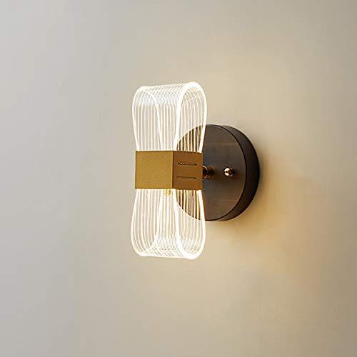 Lámpara De Pared Lujo LED, Apliques De Pared Acrílica De Diseño Creativo Luz De Noche para Dormitorio, Sala De Estar, Pasillo, Hotel