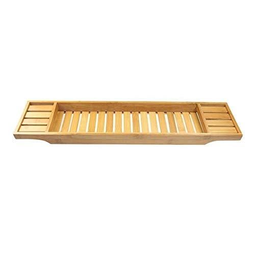 Badewanne Tisch Badewanne Tablett Bambus Badewanne Rack Multifunktion Badewanne Tee Tablett Badewanne Handy Halterung (Farbe: Holzfarbe Größe: One Size)