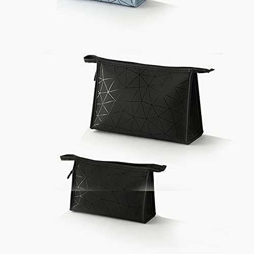 LSZA Bolso de Cosméticos,Women Cosmetic BagTravel Ladies Pouch Women Cosmetic Bag Large Capacity Portable Waterproof PU Makeup Bag Toiletry,1,L
