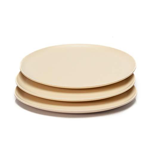 bambuswald3 Platos llanos (22,5 x 1,8 cm) - Platos de bambú en difer. colores | lavables inocuos ligeros resistentes & sostenibles: Platos de comida|Vajilla para picnic fiesta camping y casa