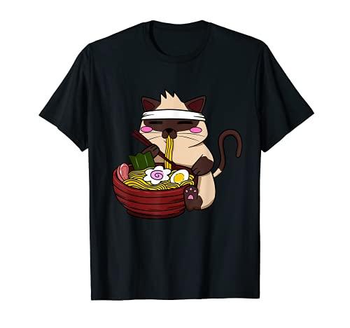 アニメ シャムラーメン 日本のラーメン ライフヌードル Tシャツ