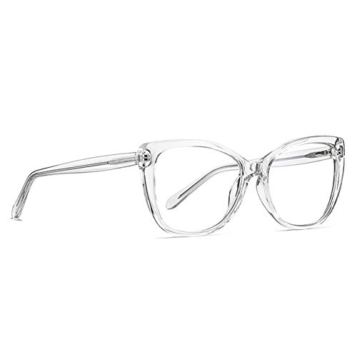 BAJSKD Gafas Anti-Bloqueo de luz Azul, Montura de óptica Redonda para Ordenador Femenino, Gafas Falsas Transparentes a la Moda para Mujer