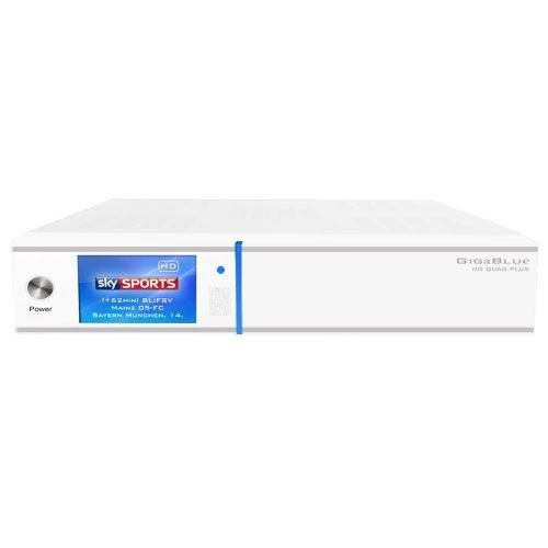GigaBlue HD Quad PLUS weiss 2x DVB-S2 HDTV Linux HbbTV LAN Sat Receiver inkl. 2000 GB Festplatte