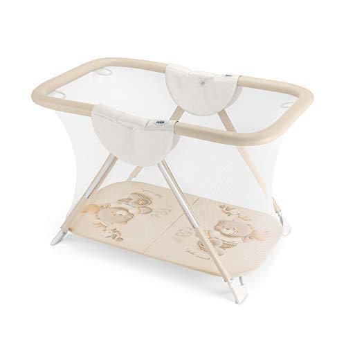 CAM BREVETTATO - Parc de course pour bébé 125 cm - Compact et pliable - Main résistant aux déchirures - Facile à nettoyer - Lit de voyage fabriqué en Italie