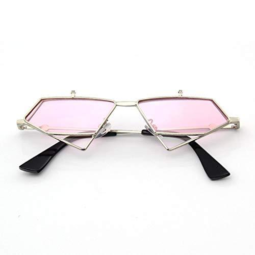 N/A Gafas de Sol para Hombre Gafas de Sol para Mujer Gafas de Sol de Doble Tapa Gafas de Sol de Hoja oceánica Gafas de Sol de Metal para Hombres y Mujeres Gafas de Sol Triangulares