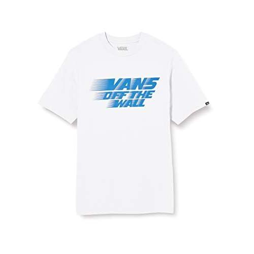 Vans Racers Edge SS Boys T-Shirt, Bianco-Vittoria Blu, M Bambino