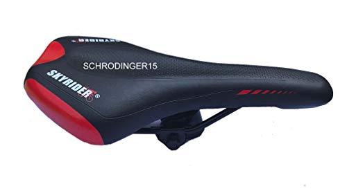 Schrodinger15 70062 Bicycle Cycle Bike Saddle Seat Mountain MTB Road (Black-Red)